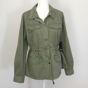 Olive green utility Jacket NWT